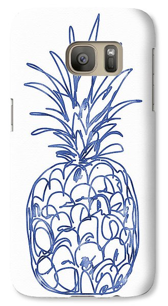 Blue Pineapple- Art By Linda Woods Galaxy Case by Linda Woods