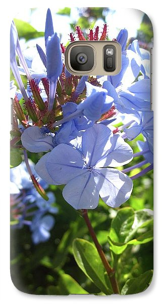 Galaxy Case featuring the photograph Blue Plumbago by Mary Ellen Frazee