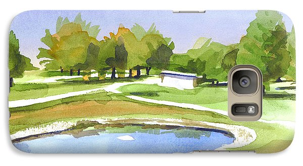 Galaxy Case featuring the painting Blue Pond At The A V Country Club by Kip DeVore