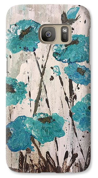 Galaxy Case featuring the painting Blue Poppies by Lucia Grilletto