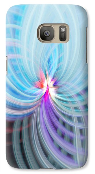 Galaxy Case featuring the photograph Blue/purple Spere by Cherie Duran