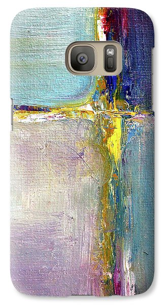 Galaxy S7 Case featuring the painting Blue Quarters by Nancy Merkle