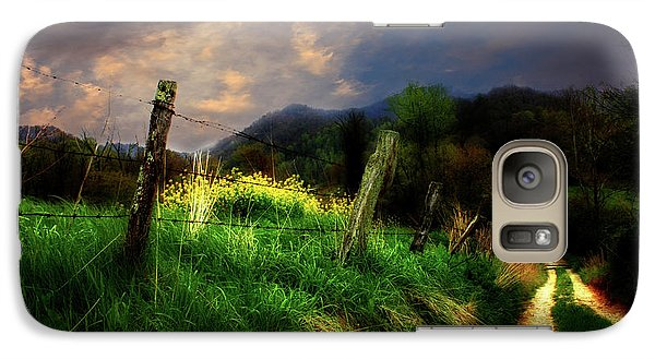 Galaxy Case featuring the photograph Blue Ridge Mountain Country Road by Gray  Artus