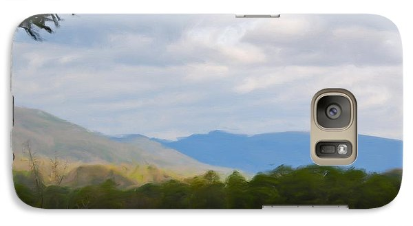Galaxy Case featuring the painting Blue Ridge Mountain by Jan Daniels
