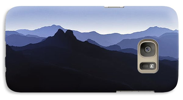 Galaxy Case featuring the photograph Blue Ridge Mountains. Pacific Crest Trail by David Zanzinger