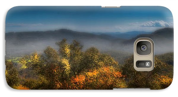 Galaxy Case featuring the photograph Blue Ridge Panorama by Ellen Heaverlo