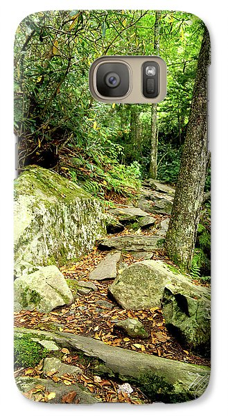 Galaxy Case featuring the photograph Blue Ridge Parkway Hiking Trail by Meta Gatschenberger
