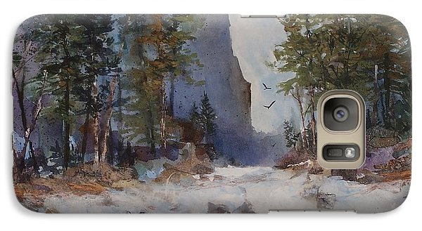 Galaxy Case featuring the painting Blue Ridge Pass by Helen Harris