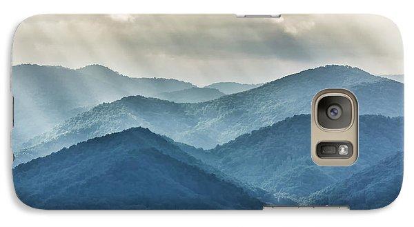 Blue Ridge Sunset Rays Galaxy S7 Case