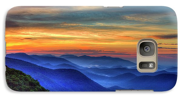 Galaxy Case featuring the photograph Blue Ridges 2 Pretty Place Chapel View Great Smoky Mountains Art by Reid Callaway