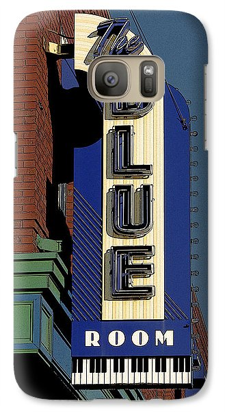 Galaxy Case featuring the photograph Blue Room by Jim Mathis