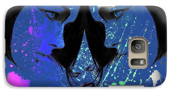 Galaxy Case featuring the digital art Blue Screamer by Greg Sharpe