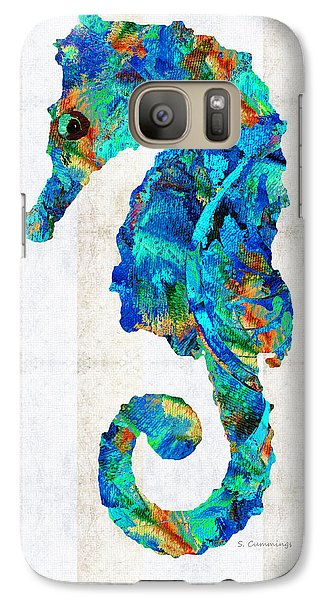 Blue Seahorse Art By Sharon Cummings Galaxy S7 Case