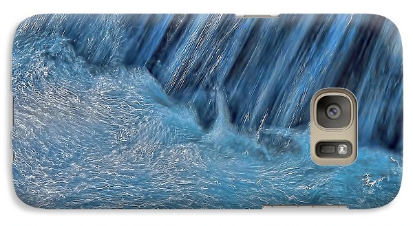 Galaxy Case featuring the photograph Blue Seam by Britt Runyon