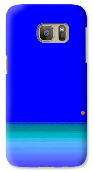 Galaxy Case featuring the digital art Blue Seas by Val Arie