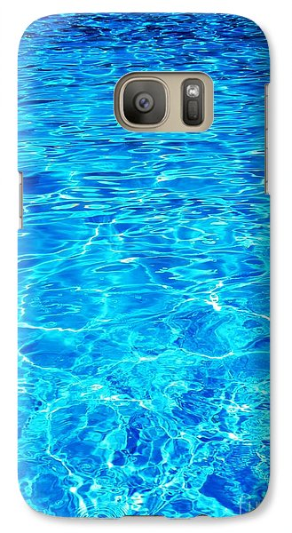 Galaxy Case featuring the photograph Blue Shadow by Ramona Matei
