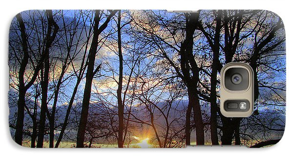 Galaxy Case featuring the photograph Blue Skies And Golden Sun by J R Seymour