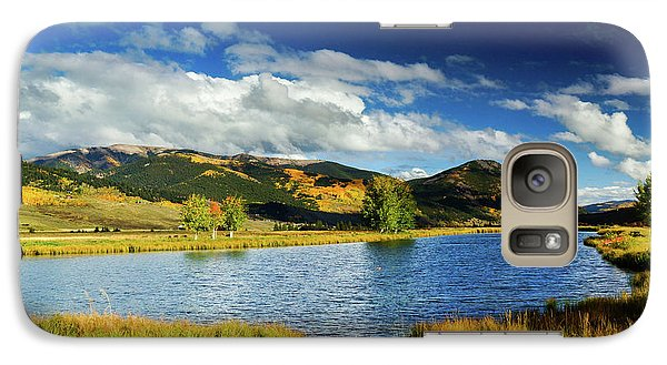 Galaxy Case featuring the photograph Blue Skies Over Crested Butte by John De Bord