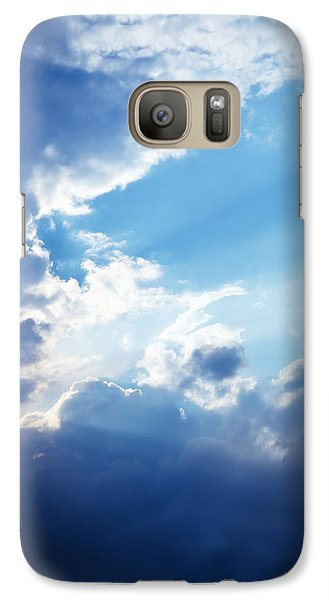 Blue Sky And Clouds With Sun Light Galaxy S7 Case