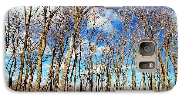 Galaxy Case featuring the photograph Blue Sky And Trees by Valentino Visentini