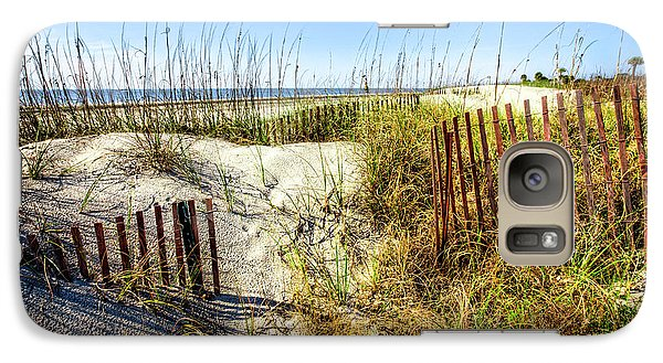 Galaxy Case featuring the photograph Blue Sky Dunes by Debra and Dave Vanderlaan