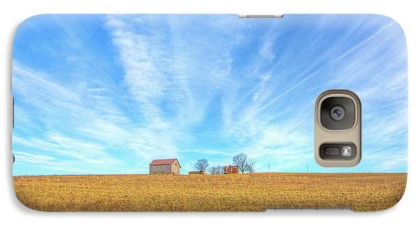 Galaxy Case featuring the digital art Blue Skys And Yellow Fields by Randy Steele
