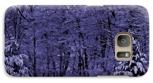 Galaxy Case featuring the photograph Blue Snow by David Dehner