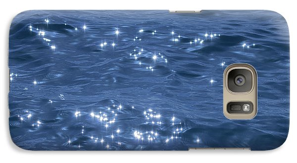 Galaxy Case featuring the photograph Blue Sparkling Water by RKAB Works