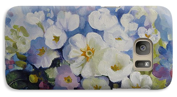 Galaxy Case featuring the painting Blue Spring by Elena Oleniuc