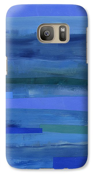 Blue Stripes 1 Galaxy S7 Case
