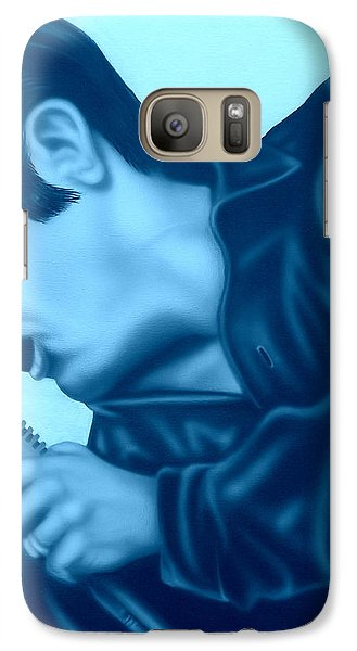 Galaxy Case featuring the painting Blue Suede Shoes by Darren Robinson