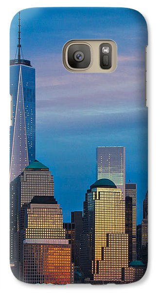 Galaxy Case featuring the photograph Blue Sunset At The World Trade Center by Eleanor Abramson