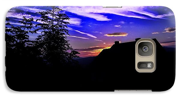 Galaxy Case featuring the photograph Blue Sunset In Poland by Mariola Bitner