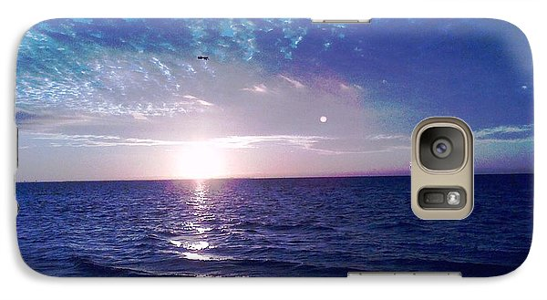 Galaxy Case featuring the photograph Blue Sunset by Vicky Tarcau