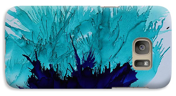 Galaxy Case featuring the painting Blue Thistle by Suzanne Canner