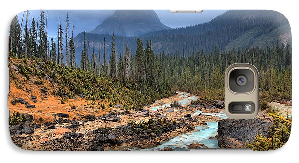 Galaxy Case featuring the photograph Blue Through The Yoho Valley by Adam Jewell