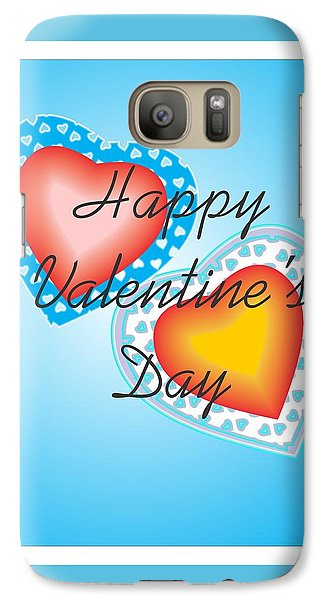 Galaxy Case featuring the digital art Blue Valentine Lace  by Sherril Porter