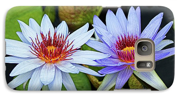 Galaxy Case featuring the photograph Blue Water Lilies by Judy Vincent