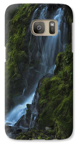 Blue Waterfall Galaxy S7 Case by Yulia Kazansky