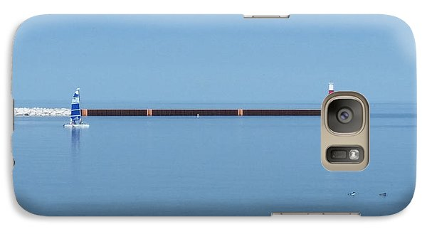Galaxy Case featuring the photograph Blue Waters Sailing by Wendy Shoults