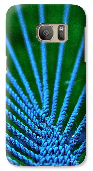 Galaxy Case featuring the photograph Blue Weave by Xn Tyler