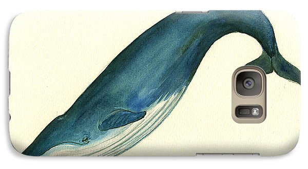 Blue Whale Painting Galaxy S7 Case