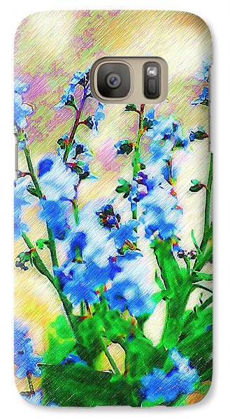 Galaxy Case featuring the photograph Blue Wildflowers by Donna Bentley