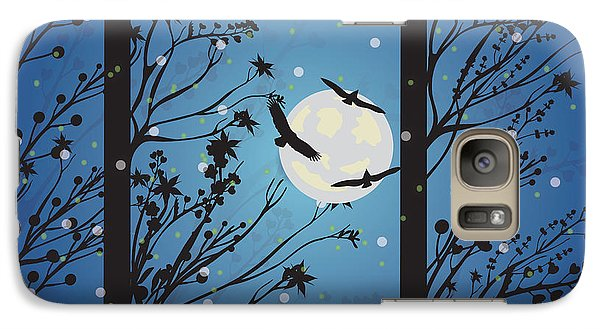 Galaxy Case featuring the digital art Blue Winter Moon by Kim Prowse