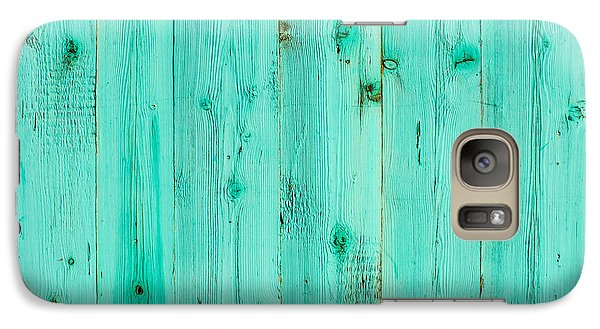 Galaxy Case featuring the photograph Blue Wooden Planks by John Williams