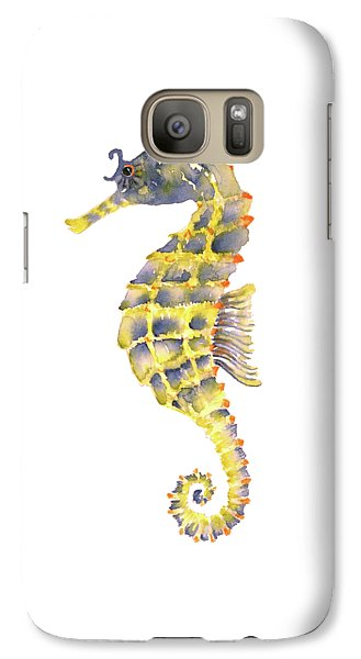 Blue Yellow Seahorse - Square Galaxy S7 Case