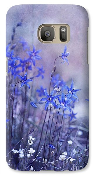 Bluebell Heaven Galaxy Case by Priska Wettstein