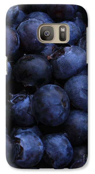 Blueberries Close-up - Vertical Galaxy S7 Case