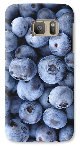 Blueberries Foodie Phone Case Galaxy S7 Case by Edward Fielding