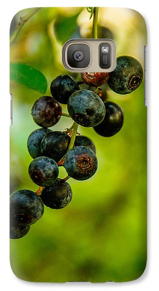 Galaxy Case featuring the photograph Blueberries by John Harding